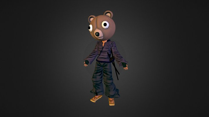 Jinno - Afro Samurai Fan Art 3D Model