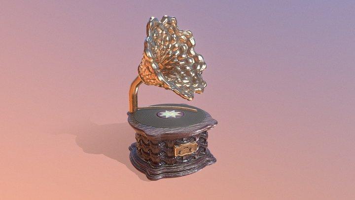 Gramophone Player 3D Model