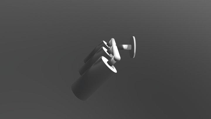 Simple Spotlight Lamp 3D Model