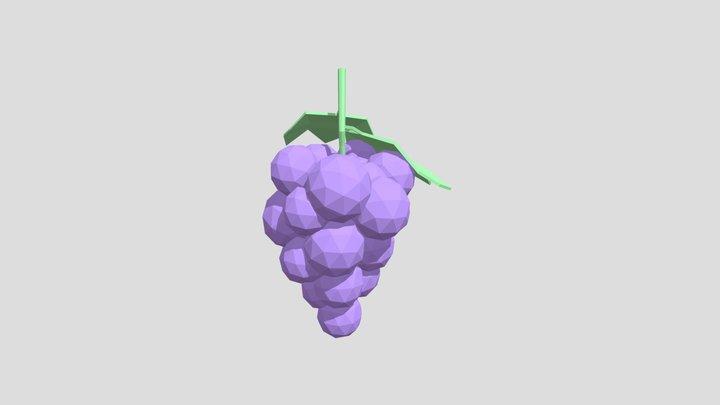 Grapes - Low Poly 3D Model