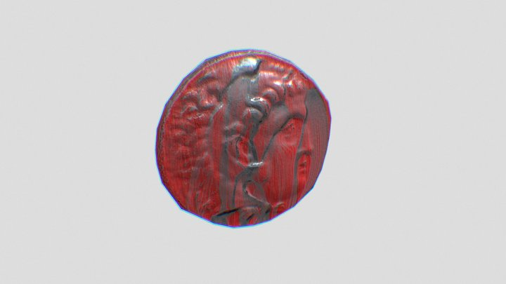 Tetradrachm Of Alexandre, the Great Low Poly 3D Model