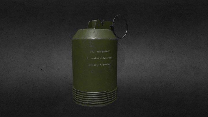XYZ School - Homework  Grenade FM 1 Offensive 3D Model