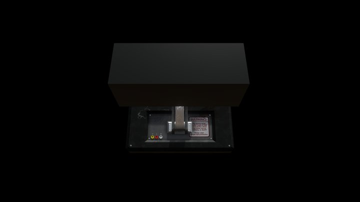 Mounted Monitor 3D Model