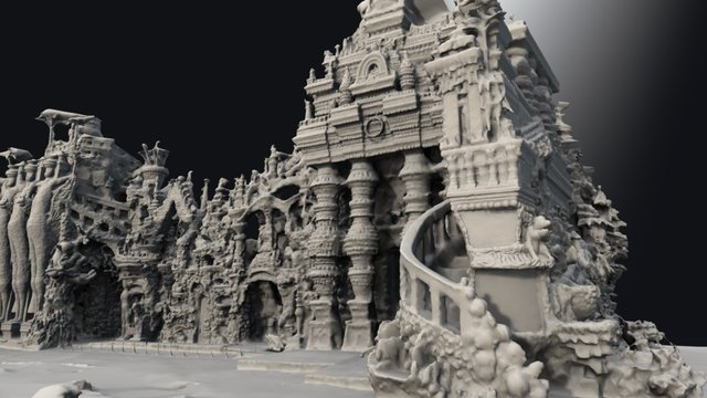 Postman Cheval's Ideal Palace 3D Model