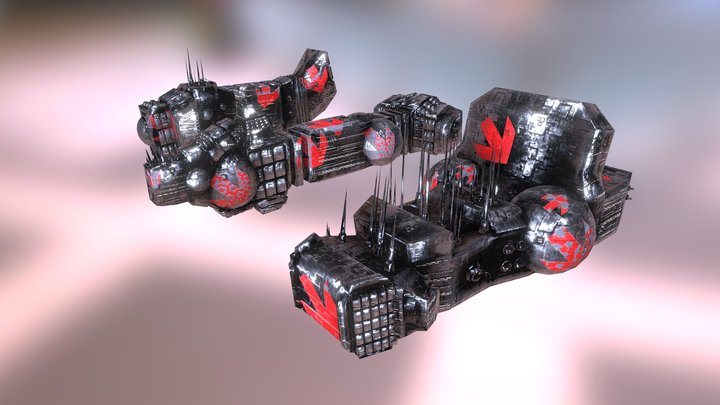 Space Ships: Cruisers 3 pack 3D Model