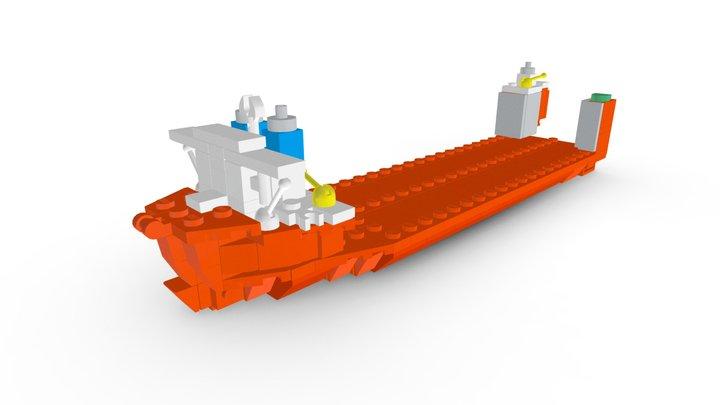 LEGO MV Blue Marlin MOC 3D Model