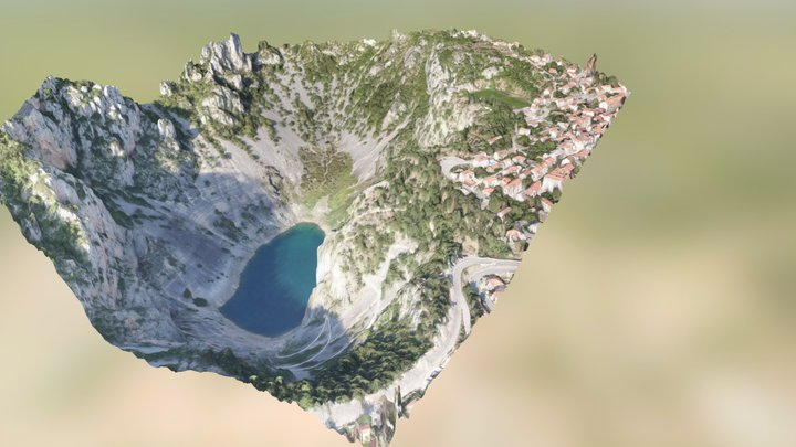 Imotski - Plavo jezero,tvrđava,dolac 3D Model