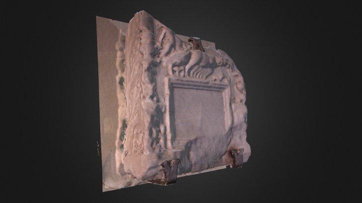Cippo funerario, di origine Romana 3D Model