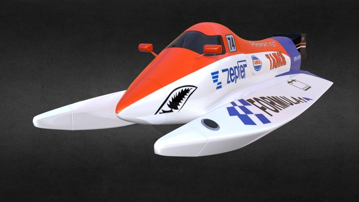 Power Boat 3D Model