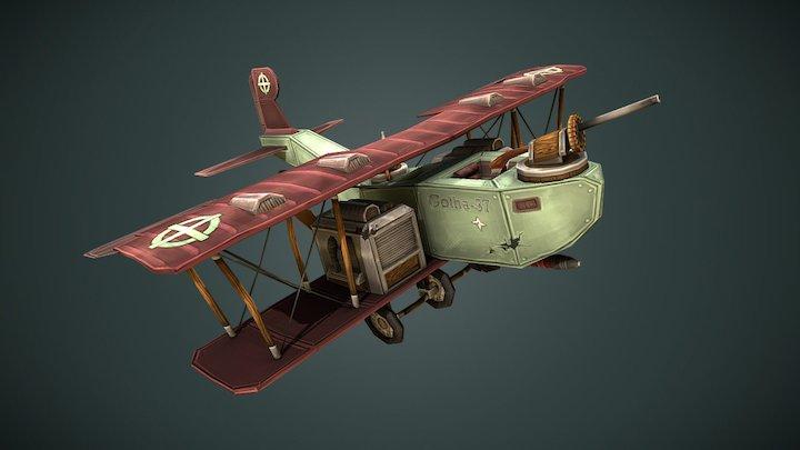 Gothabomber Stylised Plane 3D Model