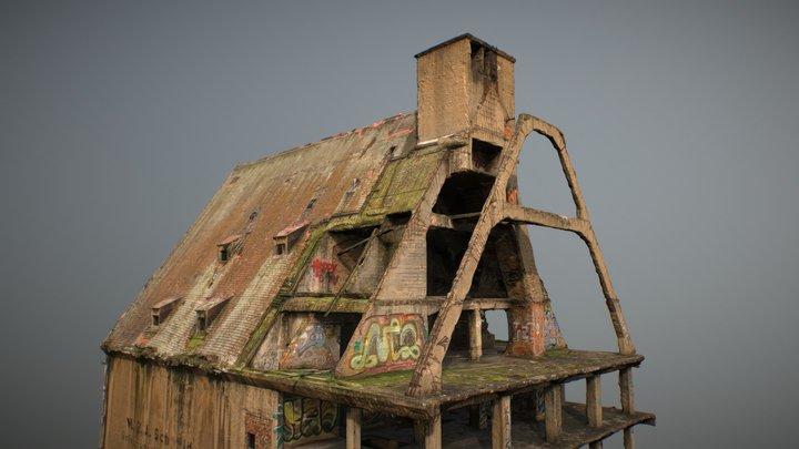 Abandoned Building: Speicher Leipzig Lindenau 01 3D Model