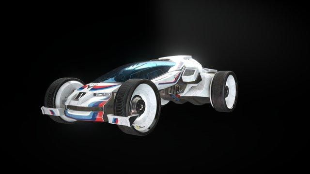 """After a race"" Volta WTCC 2070 race car 3D Model"