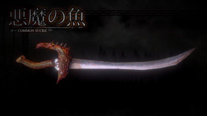 Cursed Sword-Low Poly 3D Model