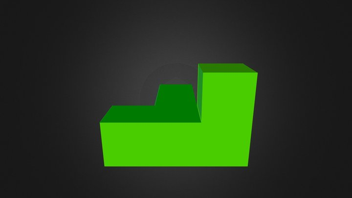 Light Green Cube 3D Model