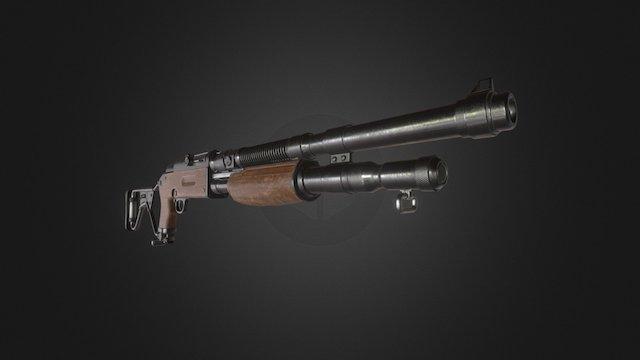 Trench shotgun 3D Model