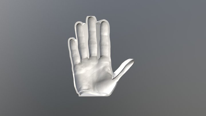 Bottom Mold for Prosthetic Hand Silicone Skin 3D Model