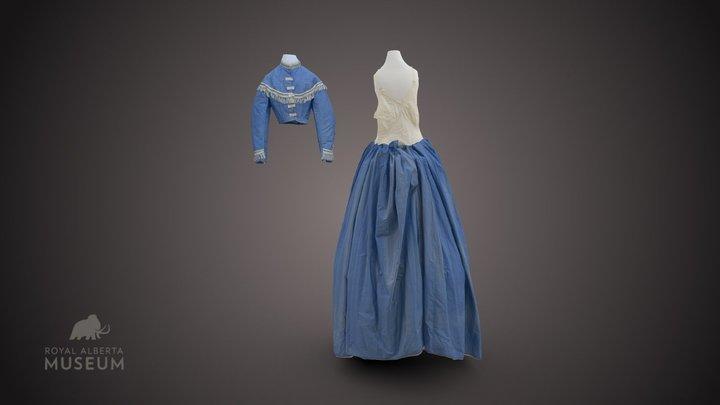 Blue Dress 3D Model