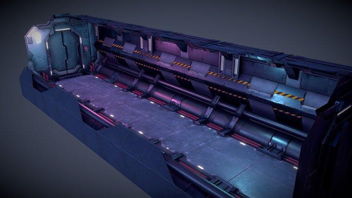 Sci-Fi Corridor - Revisited 2019 3D Model