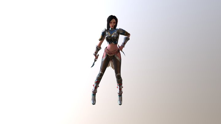 Kailina with curved blade 3D Model