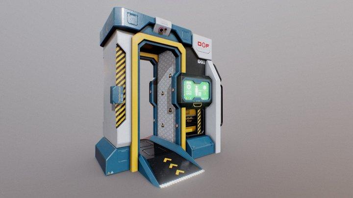 Sci-Fi Disinfection Cabin 3D Model
