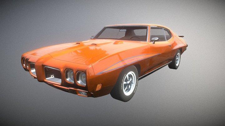 Unlock Classic Muscle Car #01 1970 3D Model