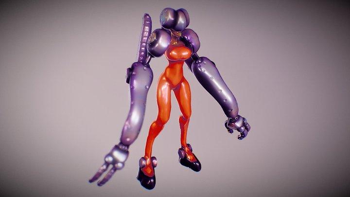 ciborg girl cx2 3D Model