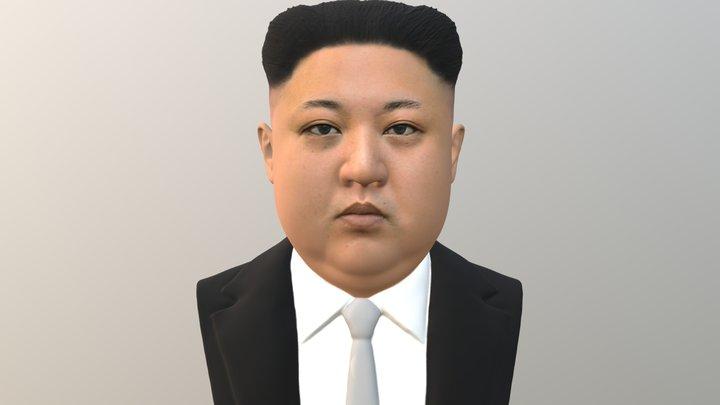 Kim Jong-un bust for full color 3D printing 3D Model
