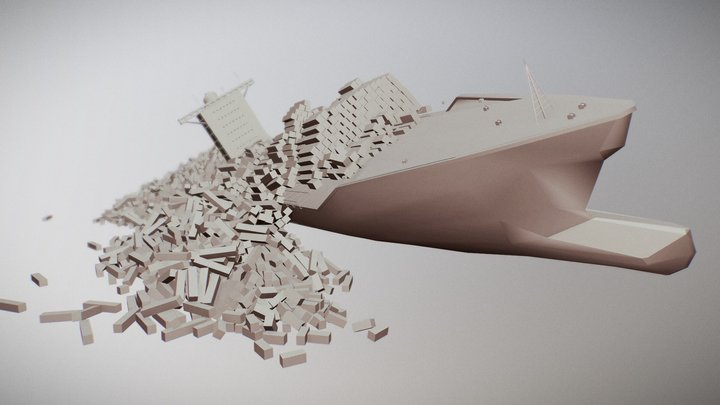 Container Ship Asset 3D Model