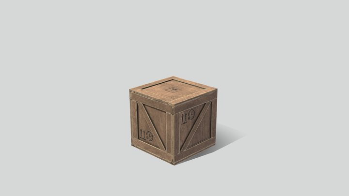 Industrial Crate 01 3D Model
