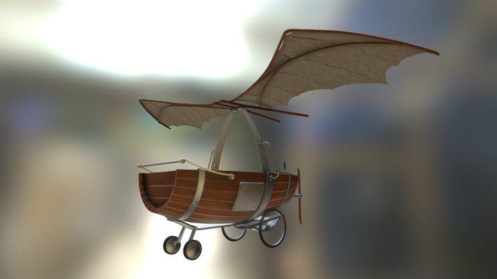 Bote Volador 3D Model