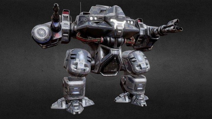 Battle Mech Robot 3D Model