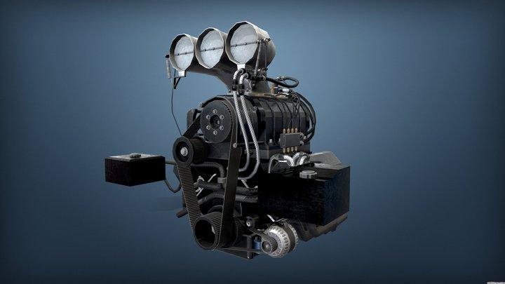Burnout Masters Engine 2 3D Model