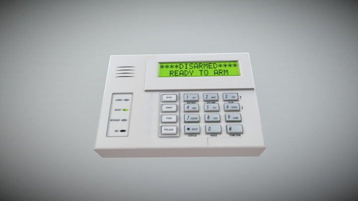 Alarm System Control Panel 3D Model