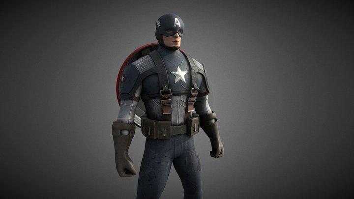 Captain America 3D Model