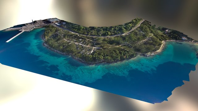 Stari Grad - Port surroundings 3D Model