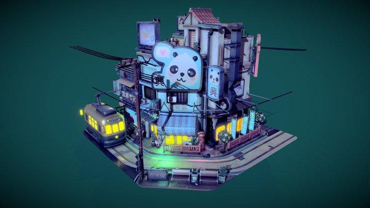 Sketchfab 3d Editor Challenge Littlest Tokyo 3D Model