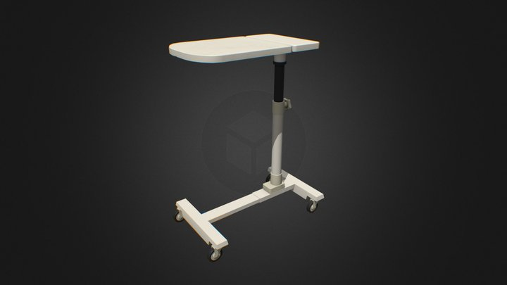 Adjustable Bedside Table 3D Model