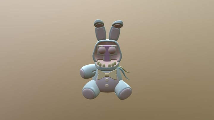 Withered bonnie plushie 3D Model