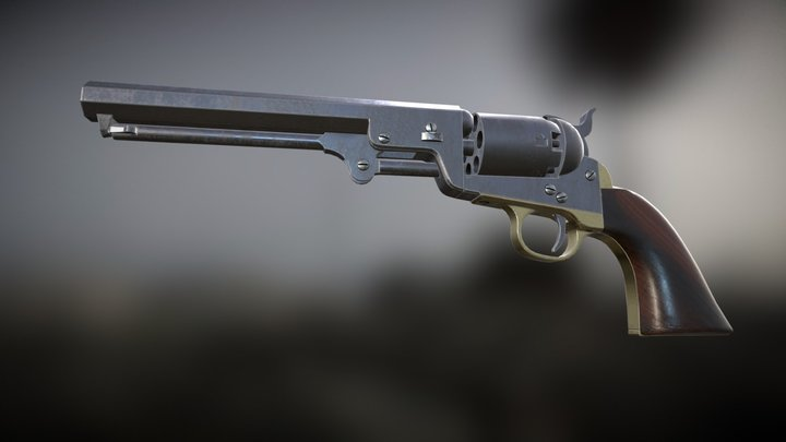 Colt 1851 Navy 3D Model