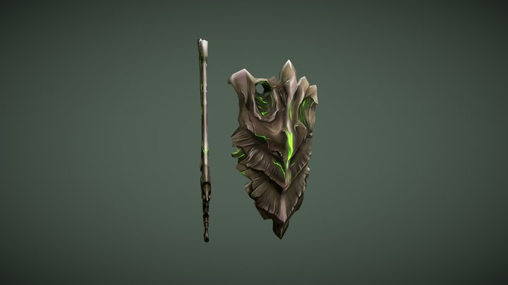Hive shield and sword 3D Model