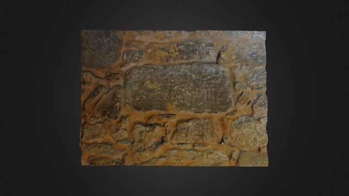 Inscripción medieval en San Martiño Armental 3D Model