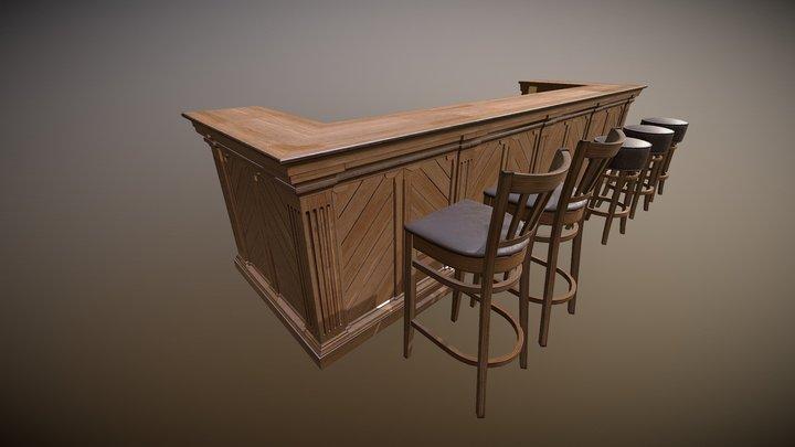 Pub counter 3D Model