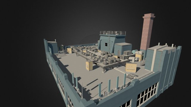 Roof Terrace Project - Existing Conditions 3D Model