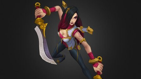 Warring Kingdoms Katarina 3D Model