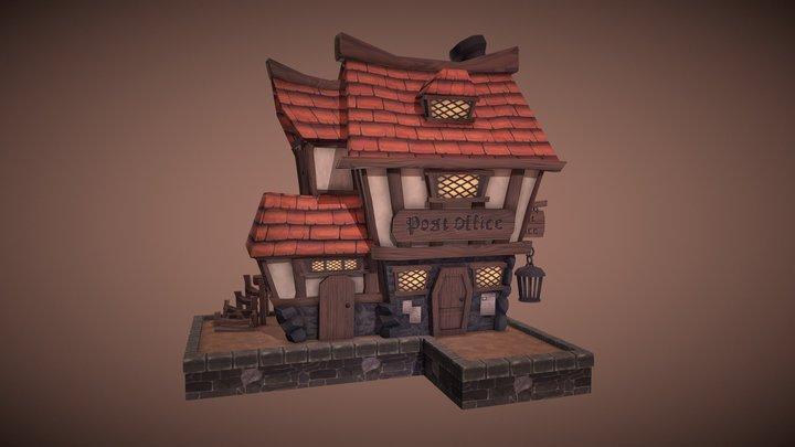 Village House: Post Office 3D Model