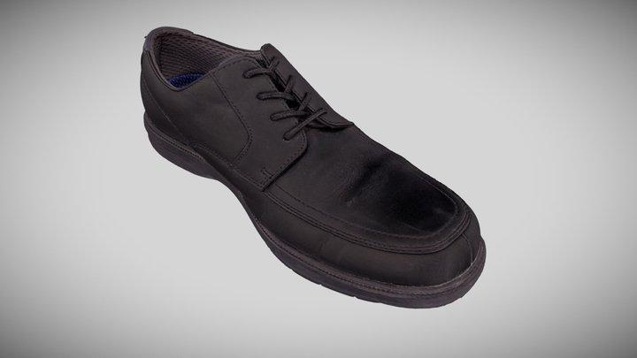 Black Dress Shoe 3D Model