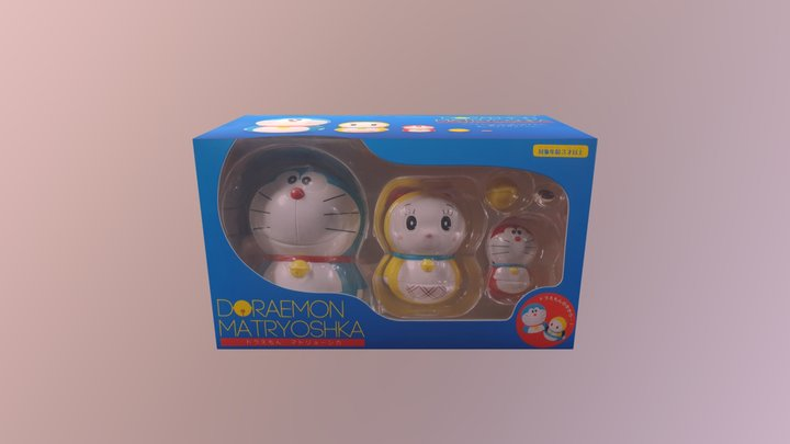 ENSKY ARTBOX DORAEMON MATRYOSHKA BOX 3D Model