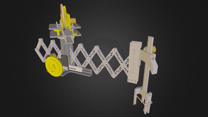 Scissor Jack Robot - Extended 3D Model