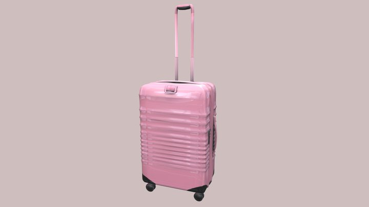 The Carry-On Roller Luggage 3D Model