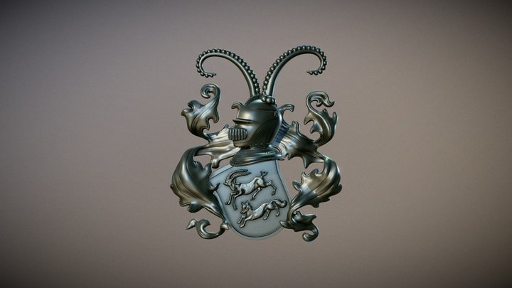 Elmer Wappen 3D Model
